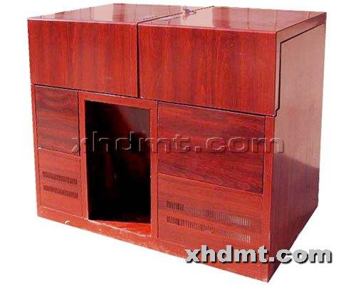 香河多媒体讲台提供生产单层平推木转印讲台厂家