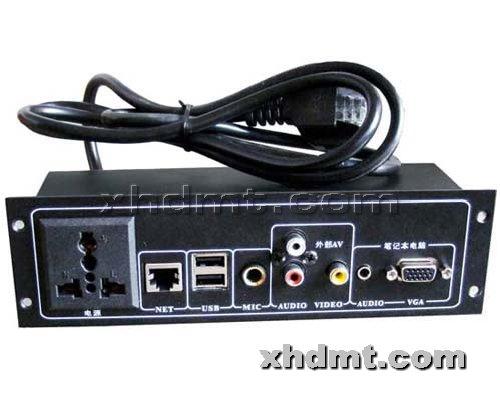 香河多媒体讲台提供生产讲台32接口盒厂家