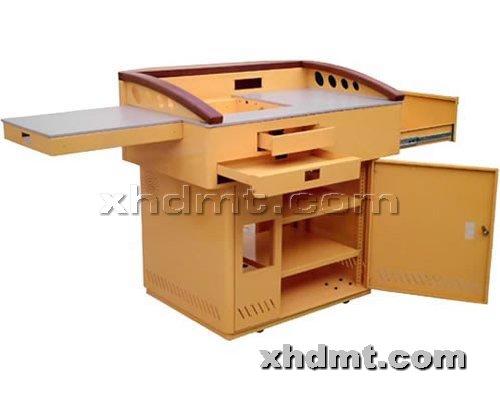 香河多媒体讲台提供生产豪华型钢木讲台厂家