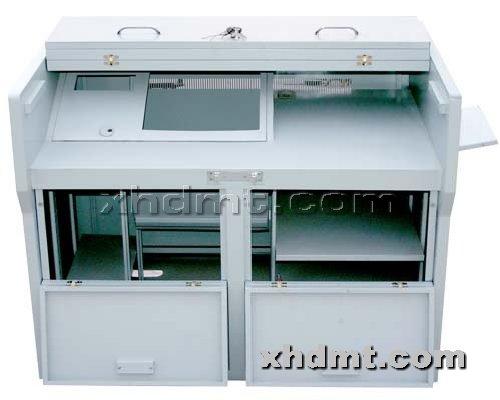 香河多媒体讲台提供生产1.25米折叠后推前门推拉门讲台厂家